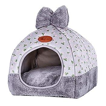 Weimay Maisons et Dômes pour Chats, Cozy 2-in-1 Pet House et Canapé,Charmant Lit Chat,Panier Doux pour Chien Chat