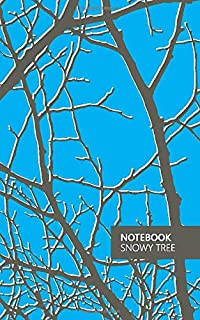 Notebook - Snowy Tree: (Night Sky Blue) Fun Notebook 96 Ruled/Lined Pages (5x8 inches / 12.7x20.3cm / Junior Legal Pad/Nea...