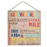 Señal de madera reglas para vivir en caravana - something different