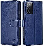 FMPCUON Hülle für Samsung Galaxy S20 FE 4G/5G Handyhülle [Standfunktion] [Magnetverschluss] Tasche Flip Hülle Schutzhülle lederhülle flip case für Samsung Galaxy S20 FE 4G/5G Blau