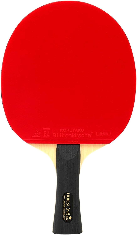 HXFENA Bate de Tenis de Mesa,Palas de Ping Pong Ofensiva Ligera de 8 Estrellas con Bolsa de Almacenamiento Excelente Control,para Familiares Clubes Deportivos/A/mango largo