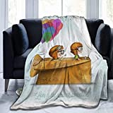 Design with Text UP Pixar Love is The Greatest Adventure Ultra-Soft Micro Fleece Blanket Flannel Fleece Soft and Warm Plush Sofa Bed Couch Living Room