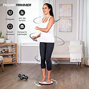 Figure Trimmer Ab Twister Board for Exercise Waist Twisting Disc with 8 Magnets by Daiwa Felicity