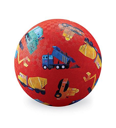 Crocodile Creek 21384 Little Builder Construction Trucks Playground Balls 5quot Red/Blue/Teal/Orange/Yellow/Black/White