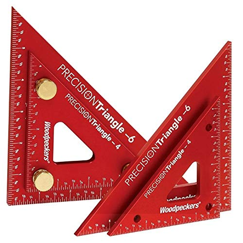Woodpeckers Precision Triangle Set, 4 Inch and 6 Inch Woodworking Triangles