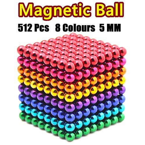 JIAKELOVEYI 8 Colors 512 Pcs of 5MM DIY Magnets Toys Magnetic Fidget Blocks...
