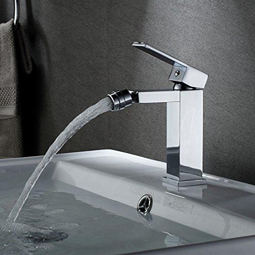 Auralum - Miscelatore monocomando per bidet, girevole a 360°, per bidet e bagno