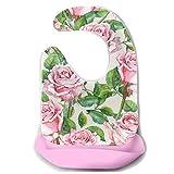 Baberos únicos para bebés con estampado floral para mujeres Delantal de...