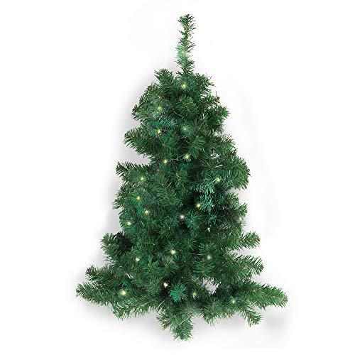 D-Mail Albero di Natale da Parete con luci LED e Timer