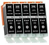 Supply Guy 5 XL Druckerpatronen mit Chip kompatibel mit Canon PGI-570 PGBK Schwarz für Pixma MG5700 MG5750 MG5751 MG6800 MG6850 MG7750 TS5000 TS5050 TS5055 TS6050 TS8050 TS9050 TS9055 und weitere