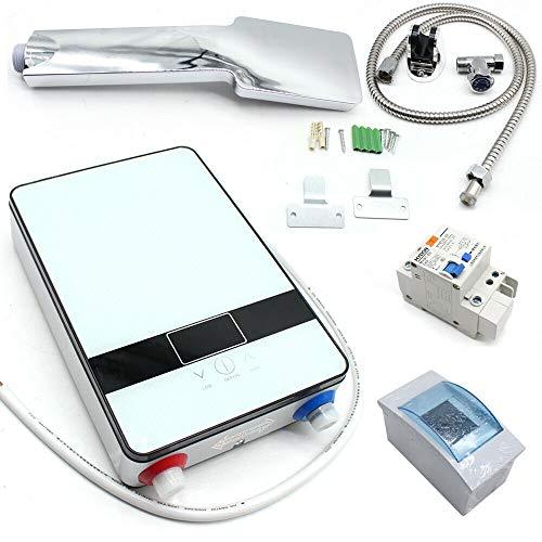6,5 KW 220 V - Scaldabagno elettrico digitale per doccia, bagno, cucina, ecc