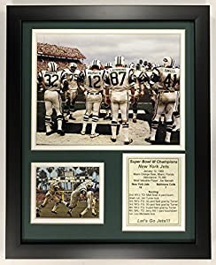 """Legends Never Die 1968 New York Jets - Super Bowl III Champions - Huddle - Framed 12""""x15"""" Double Matted Photos, Inc."""