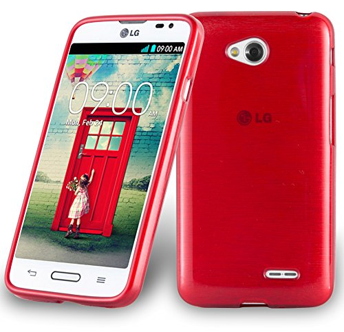 Cadorabo Funda para LG L70 (1.SIM) en Rojo - Cubierta Proteccíon de Silicona TPU Delgada e Flexible con Antichoque - Gel Case Cover Carcasa Ligera