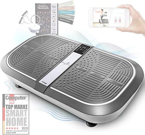 Sportstech 3D Vibration Plate VP300   Mega Fat Burner + 5 bandes de fitness supplémentaires   Vaste surface +2x1000W Puissance moteur + Haut-parleur Bluetooth + Télécommande   Fitness Training at Home