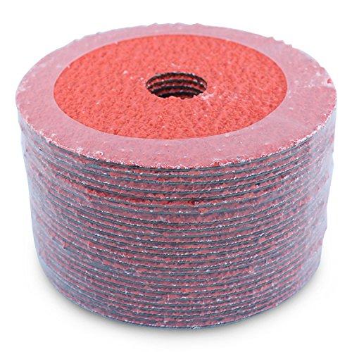 "BHA Ceramic Resin Fiber Sanding and Grinding Discs, 4.5"" x 7/8"", 36 Grit - 25 Pack"