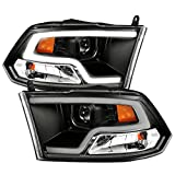 Anzo USA 111404 DODGE RAM 09-18 PROJECTOR PLANK STYLE HEADLIGHT w/HALO BLACK CLEAR AMBER