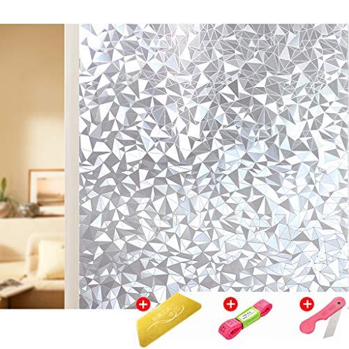 Ventanas Rollo de película de baño impresión en 3D de Vidrio Esmerilado Etiqueta de adsorción electrostática Transparente de privacidad Opaco Grande (Color : F, Size : 70 * 1500cm)