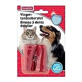 BEAPHAR - Brosse à dents doigtier – Brossage des dents chien et chat – Douce et souple –...