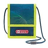 """Step by Step Brustbeutel """"Power Robot"""", blau-grün-gelb, mit Sichtfenster, Münzfach mit Reißverschluss, Schlüsselbefestigung, zum Umhängen, für Jungen ab der 1. Klasse"""