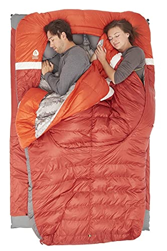 Sierra Designs Backcountry Bed 20 Degree 650F Dridown Lightweight Sleeping Bag for Adults (Duo)
