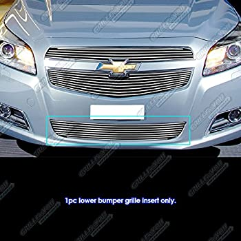 Fits 2014-2015 Chevy Malibu Stainless Steel Black Mesh Grille