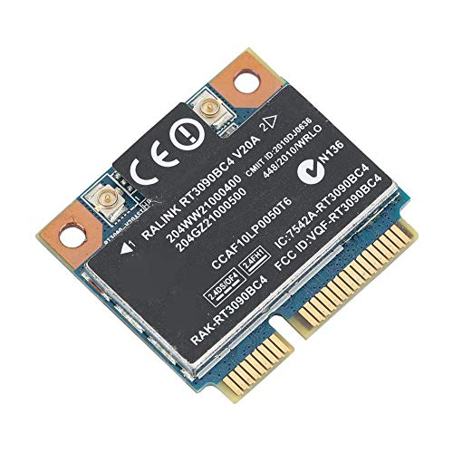 Tarjeta de Red Bluetooth 3.0, Tarjeta de Red inalámbrica de 300Mbps con Interfaz Mini PCI-E para HP Compatible con Win7/Win8/OSX.