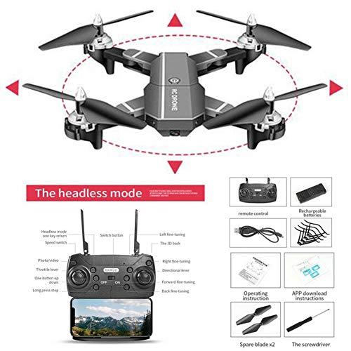 Droni con videocamera Live Video GPS HJ100 720P 1080P 4k Drone HD WIFI FPV Drone volante, dji Drone, miglior drone per principianti con mantenimento in altitudine, controllo vocale, sensore G, volo a