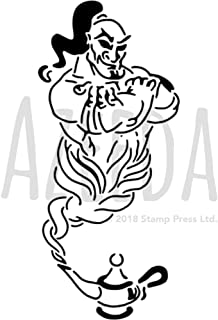 A5 'Genie of The Lamp' Wall Stencil / Template (WS00011984)