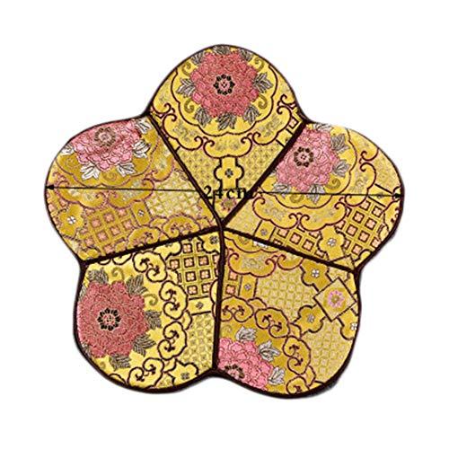 Goddness Bar Tapis de Plateau de thé en Tissu décoratif Coaster Retro Pad Tapis (Style 13)