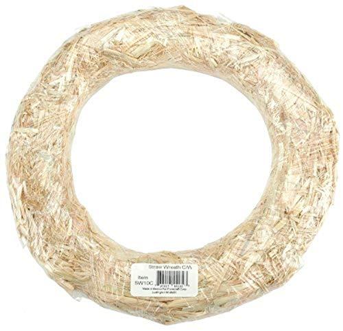 FloraCraft Straw Wreath, 18-Inch, Natural