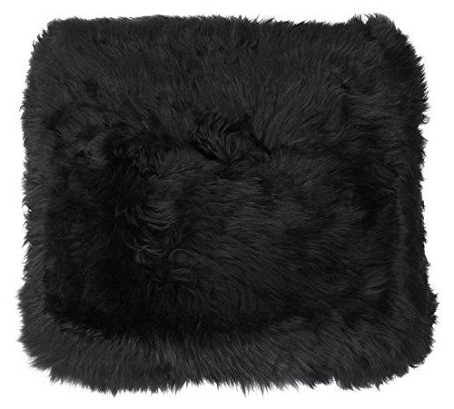 Harrys-Collection Sitzkissen aus bestem Lammfell hochwollig, Farben:schwarz