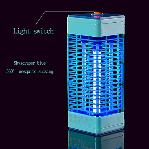 YK ZAOOER Stechmücken Home Use Elektrische Fliegenvernichter High Voltage Insektenvernichter Gift-Free Bug UV-Licht-Lampe Kills Flies,Blau