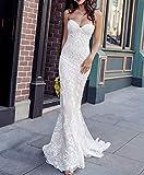 CfMWz Vestidos de Novia de Encaje de Tul Vestido de Novia for el Vestido Appliques del Vestido de Novia Sirena del Amor de la Vendimia con la Exclusiva de la Boda Vestidos Elegante