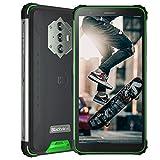 Blackview BV6600 (2021), Teléfono Móvil Resistente Android 10 4G de 5,7', 4 GB de RAM, 64 GB de ROM, Expansión de 128 GB, Cámara 16 MP + 8 MP, Batería de 8580 mAh, Dual SIM NFC GPS Giroscopio FM Verde