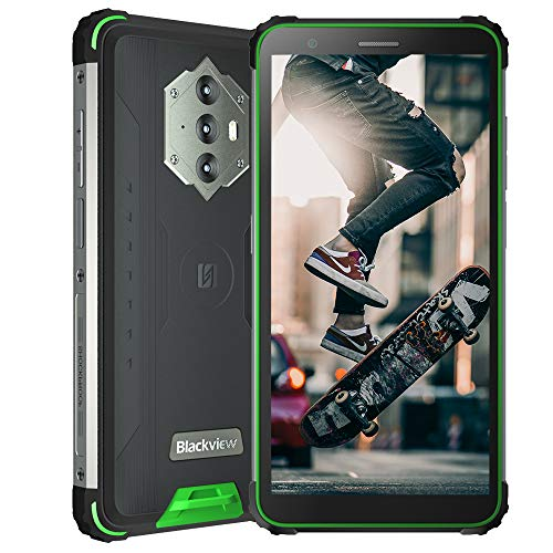 Blackview BV6600 (2021), 5,7  Android 10 4G Smartphone, 8580 mAh Akku, 4 GB RAM 64 GB ROM, 16 MP + 8 MP Kamera, IP68 Robusto Cellulare Rresistente, NFC Dual SIM GPS FM Verde