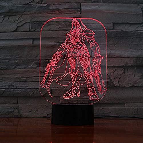 3D Lámpara de LED Luces nocturnas Ofertas de caza Decoración Del Hogar...