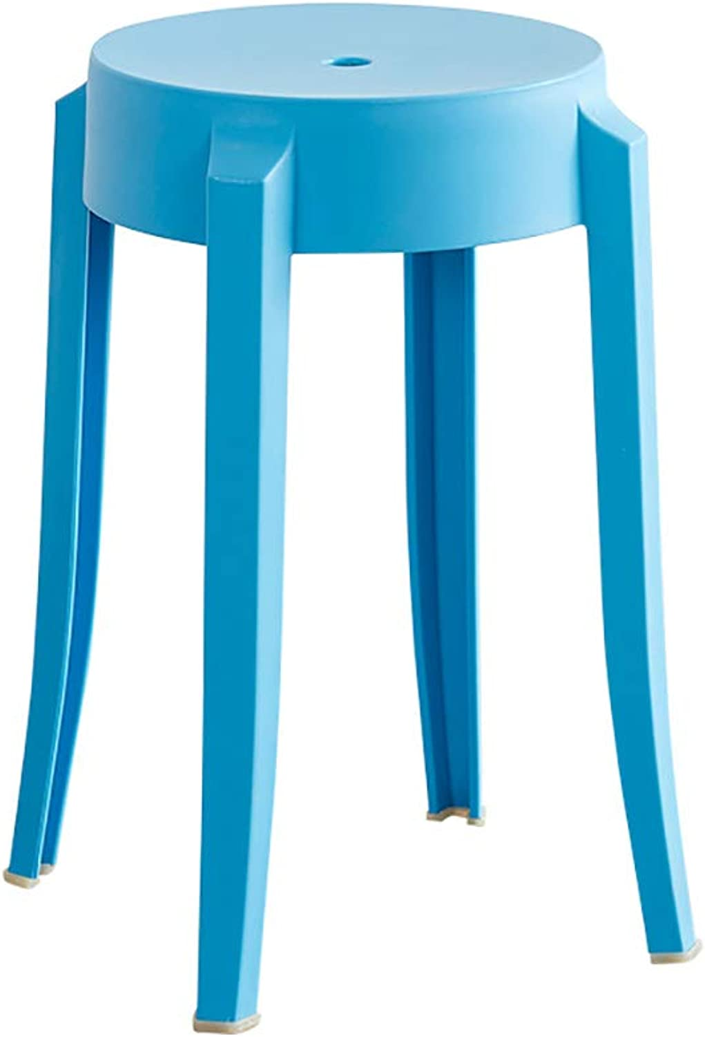 Stool Plastic Stool Table Stool Living Room high Stool Simple Style Four feet Solid color Size  26  26  47cm (color   D)