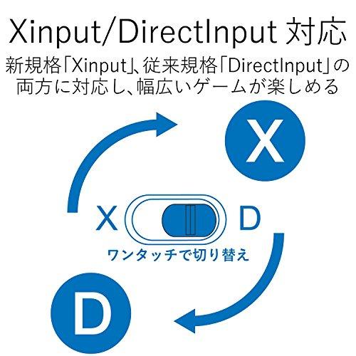 エレコムゲームパッドUSB接続Xinput/DirectInput両対応Xbox系12ボタン振動/連射【ドラゴンクエストX眠れる勇者と導きの盟友推奨】ブラックJC-U3613MBK