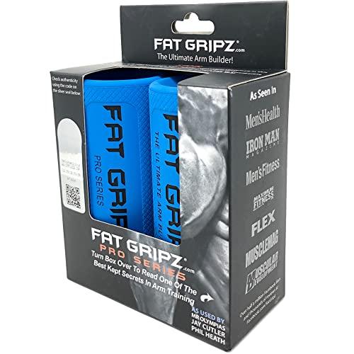 Fat Gripz Pro - starker Bizeps und Armmuskulatur, die einfache und schnelle Art (Durchmesser 5,7 cm) - Dicke Hantelgriffe