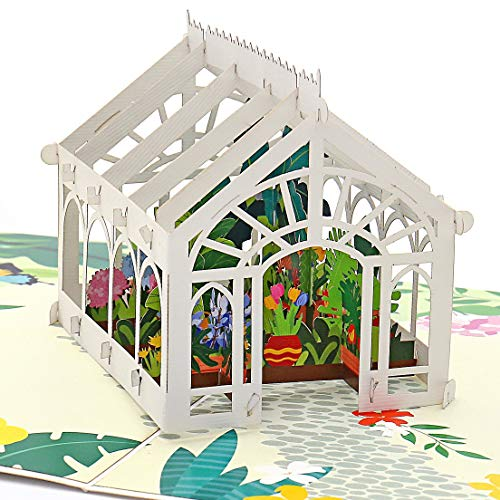 Liif Mother's Day Greenhouse 3D Greeting Pop Up Card For All Occasions, Valentines Day, Mother's...