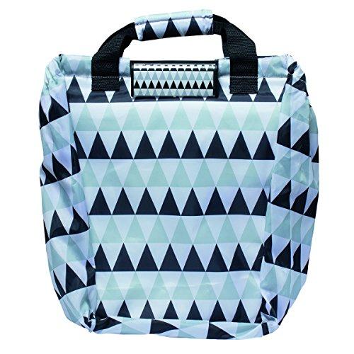 Zapato XXL winkelwagentas met kliksysteem en grote koeltas boodschappentas Shopper Shopping Bag opvouwbaar grafisch design zwart mint wit