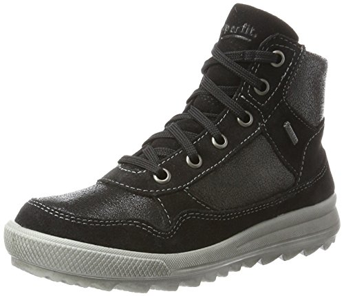 Superfit Mädchen LINA Hohe Sneaker, Schwarz (Schwarz Kombi), 40 EU