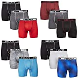 HEAD Mens Performance Boxer Briefs - 12-Pack Athletic Fit Breathable Tagless...
