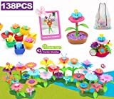 Girls Toys Age 3-6 Year Old Toddler Crafts, Flower Garden Building Toy, Preschool Activities, STEM Educational Toys and Great Gift for Age 3+ yr Toddlers and Kids