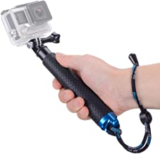 Vicdozia Portable Hand Grip Waterproof Extension Selfie Stick Handheld Monopod Adjustable Pole Compatible with GoPro Hero(2018) Hero 7 6 5 4 AKASO SJCAM DJI OSMO Action Cam and More Sports Cameras