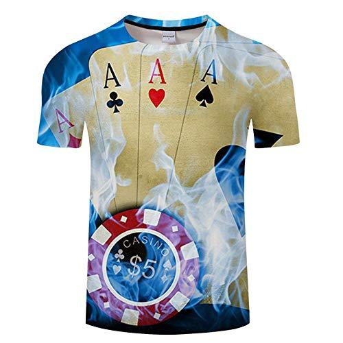 T-Shirt Hommes T-Shirt Impression 3D Chemise Décontractée Manches Courtes Style De Mode Tops Chemises Respirantes Asianxxxl Txkh3080