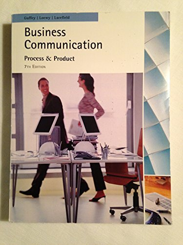 Business communication process & product 7th edition