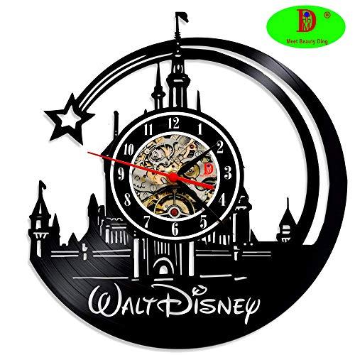 Meet Beauty Ding Il più Bello Bellissimo Orologio da Parete in Vinile Walt Disney Decorazioni per la casa Decorative di Grandi Dimensioni Idea Regalo di Natale per Ragazzi papà