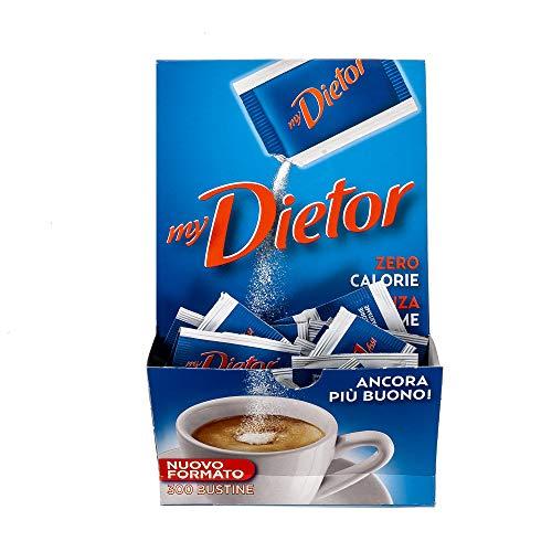 Dietor - Dolcificante Zero Calorie Senza Glutine, Box Da 300 Bustine