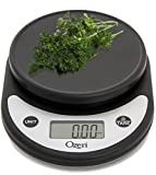Ozeri ZK14-AB Pronto Digital Multifunction Kitchen and Food Scale, Standard, Silver On Black